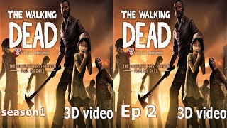 3D The Walking Dead TV VR box video Side by Side SBS s1 ep 2 zombie horror google cardboard
