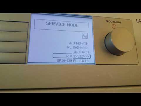 AEG Washing Machine Service Mode Lavalogic 1600 / Read Fault Or Error Codes, Test Washer