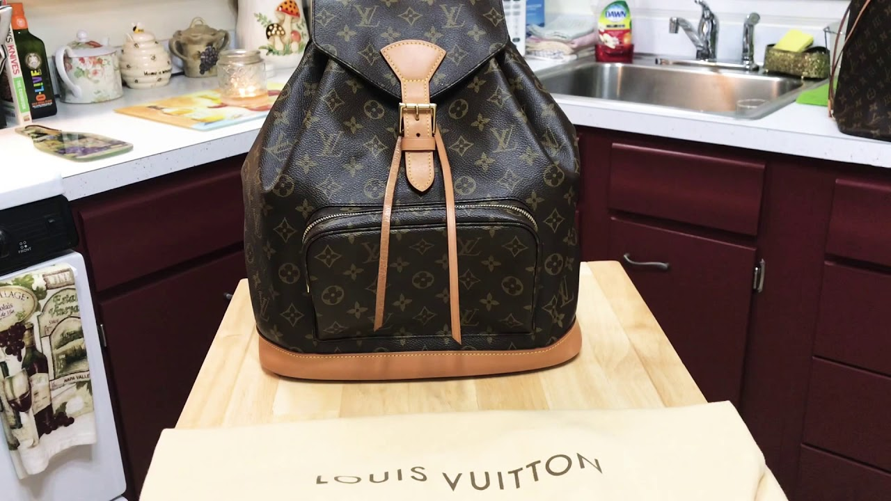 f201b086316f Taking a look at the Louis Vuitton Montsouris GM Backpack! - YouTube