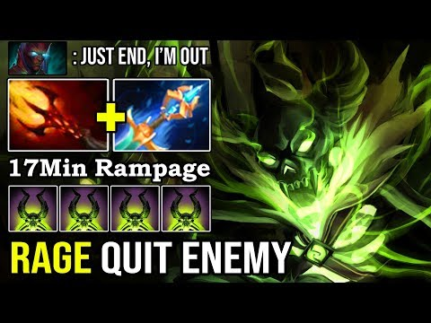 NEW 7.22h IMBA PUGNA MID!!! 17Min Rampage Made Enemy Rage Quit With Instantly 1s Burst Down DotA 2