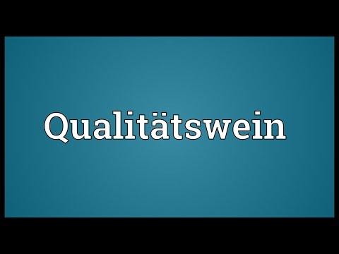 Qualitätswein Meaning