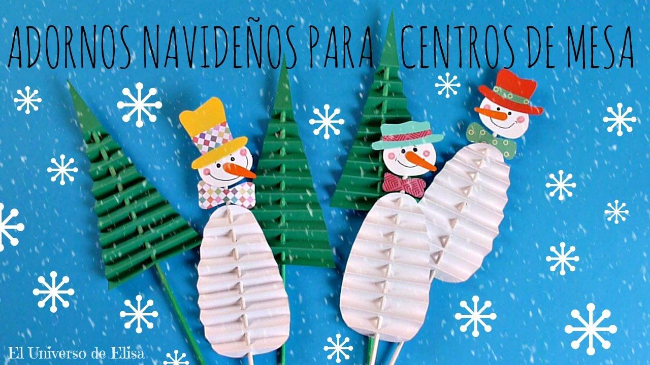 C mo hacer adornos navide os para centros de mesa mu eco for Centro de mesa navideno manualidades