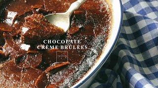 [ The Wolf's Kitchen Recipes] - How to make Chocolate Crème Brûlées  - Kem Trứng Chocolate Đút Lò
