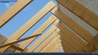 видео Двускатная крыша своими руками: строительство и монтаж каркаса, устройство и расчет