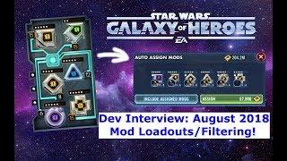 Dev Interview! - Mod Équipements/Nouveau Filtrage de Remplacement SWGOH.GG??? - Star Wars: Galaxy de Héros