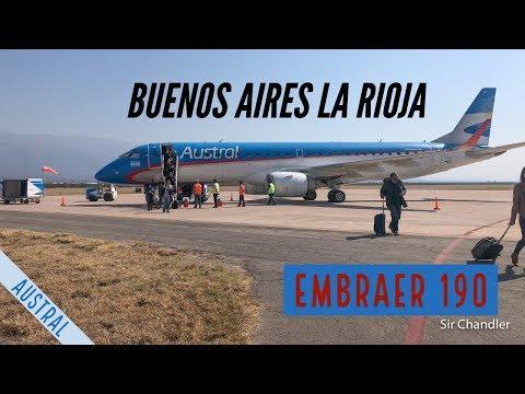 Vuelo Buenos Aires (AEP) - La rioja - Embraer 190 Austral