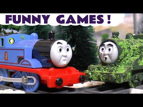 Funny Pranks with Thomas and Friends Toy Trains | Kids stories with Tom Moss and Paw Patrol  TT4U