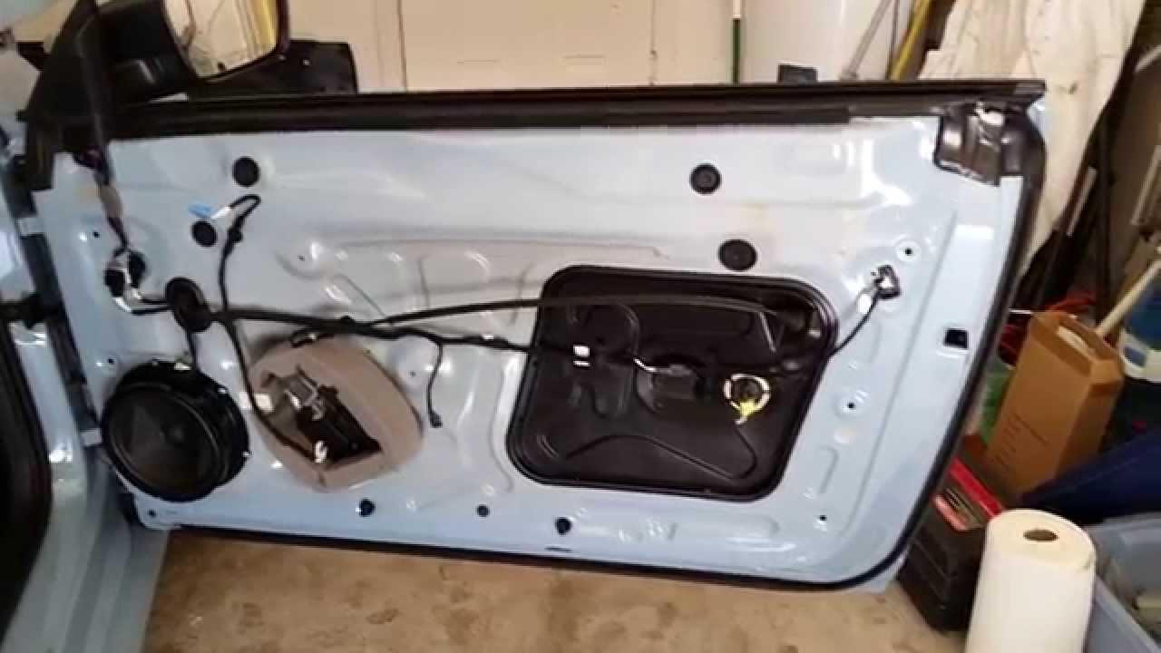 2017 Volkswagen Beetle Metal Door Frame Plastic Panel Removed Upgrade Speaker
