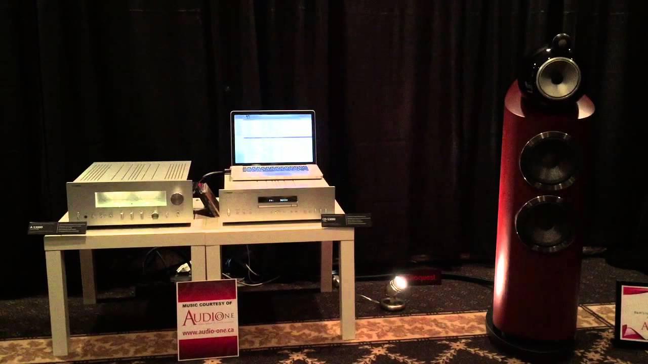 b&w803 and yamaha as-3000 amplifier - youtube