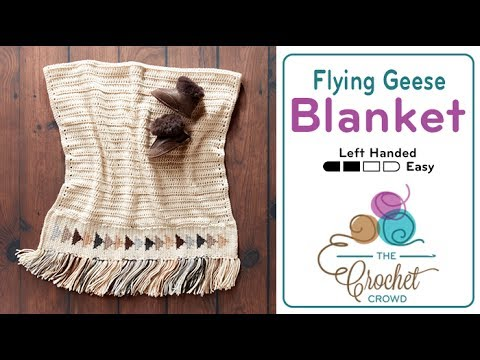 c8f87dc75cb41 How to Crochet A Baby Blanket  Flying Geese - YouTube