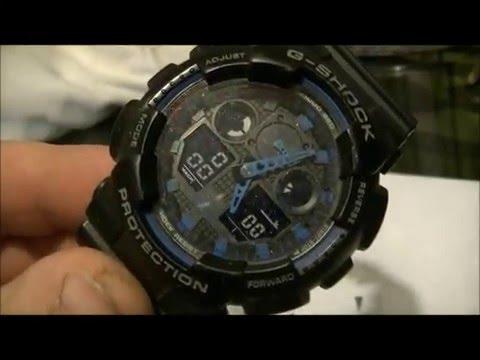 Замена ремешка часов CASIO G-SHOCK GA-100-1A2ER