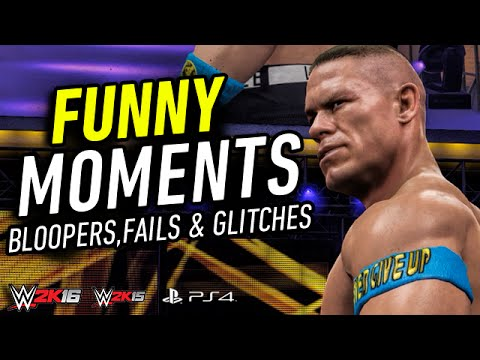 WWE 2K16 Funny Moments! (Bloopers,Fails &...