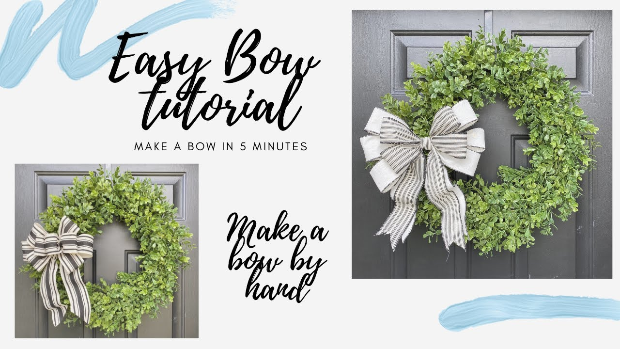 Bow Making | How to Make a Bow | 5 Minute Bows | Bow for Wreaths