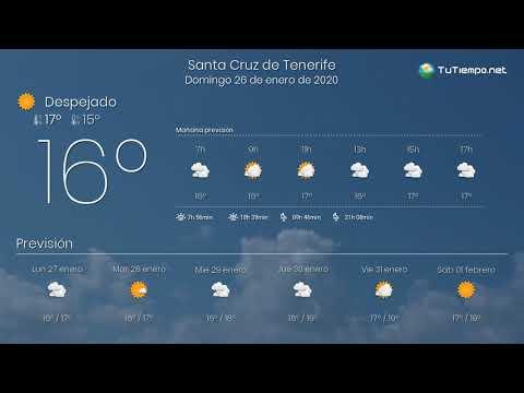 El tiempo en Santa Cruz de Tenerife. Domingo 26 de enero de 2020.