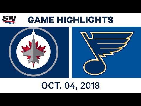 NHL Highlights | Jets vs. Blues - Oct. 4, 2018