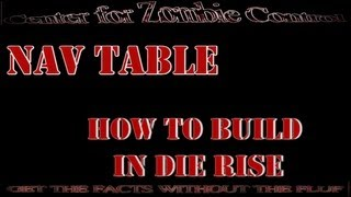 How To Build The Navcard Table In Die Rise: Call Of Duty Black Ops 2, Zombies