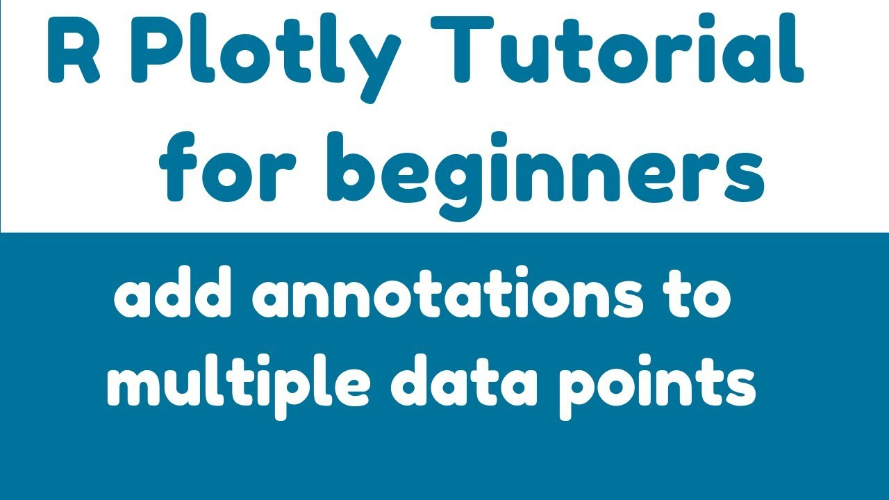 R plotly Tutorial - add_annotations() - add annotations to multiple data  points - Example 1