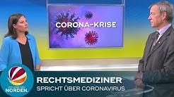 Hamburger Rechtsmediziner spricht über das Coronavirus