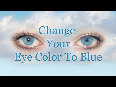 How to make your eyes lighter blue