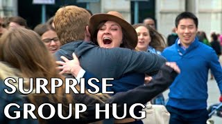 Surprise Group Hug #NationalHugDay thumbnail