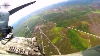 U.S. Army Airborne Jumpmaster POV Cam - Jumping from C-130