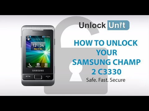 UNLOCK SAMSUNG CHAMP 2 C3330 - HOW TO UNLOCK YOUR SAMSUNG CHAMP 2 C3330
