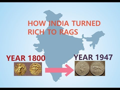 STORY OF HOW A RICH NATION INDIA TURNED INTO POOR COUNTRY