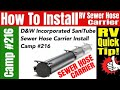 RV Travel Adventures – How To Install an RV Sewer Hose Carrier
