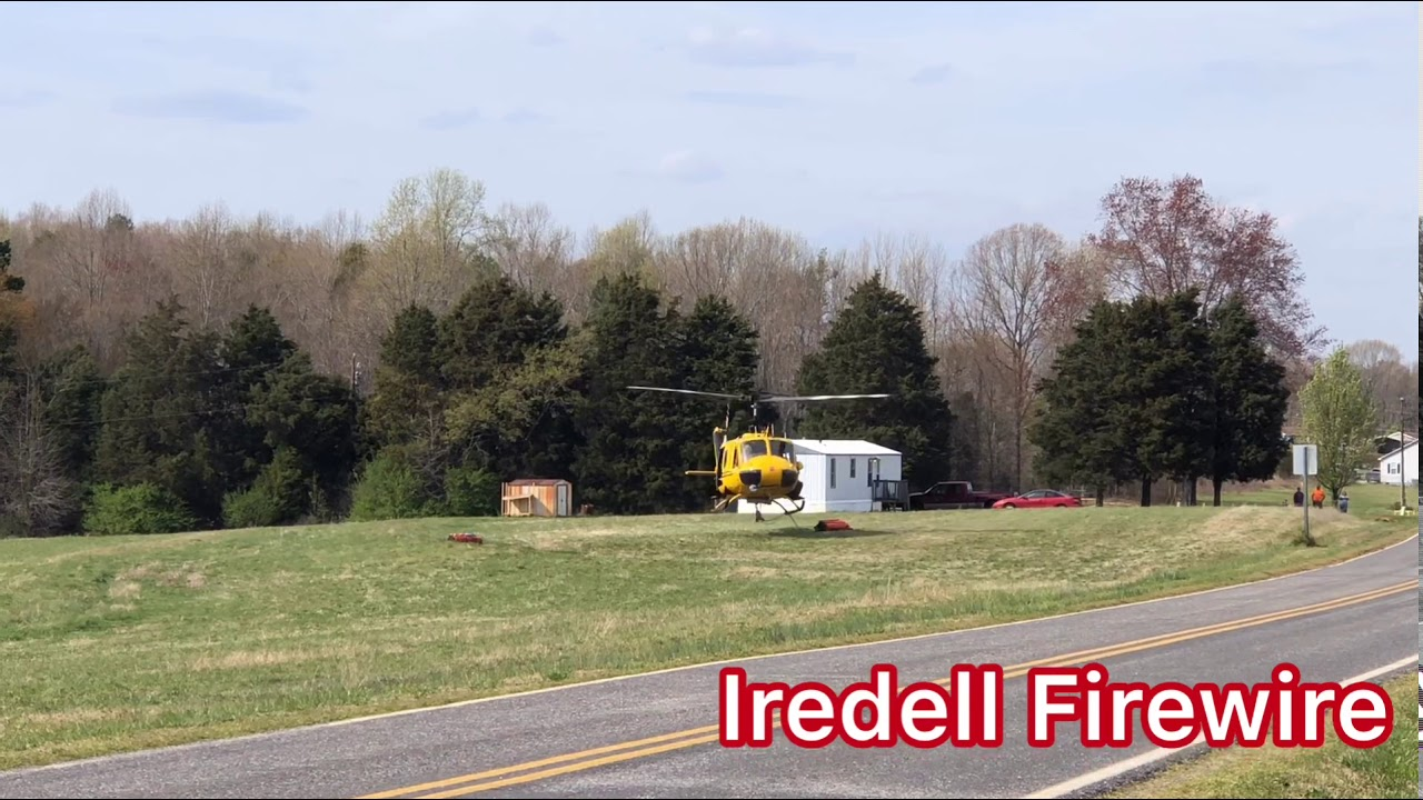 NC Forest Service Helicopter Taking Off In Iredell County - YouTube