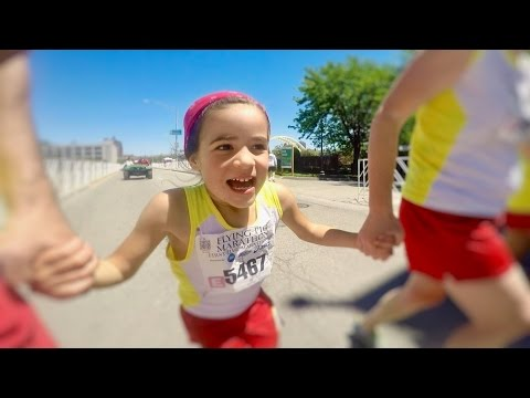 Thumbnail: UNBELIEVABLE Our Six Year Old ran a FULL MARATHON!