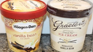 Häagen-Dazs vs Graeter's: Vanilla Bean Ice Cream Blind Taste Test