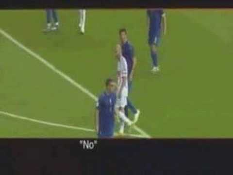 What Materazzi said to Zidane