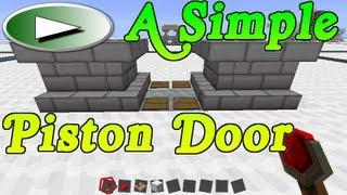 ► A Simple Piston Door Tutorial