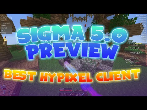 BEST HYPIXEL HACKED CLIENT 2020? Sigma 5.0 Early Gameplay On Hypixel 1.8 & 1.12
