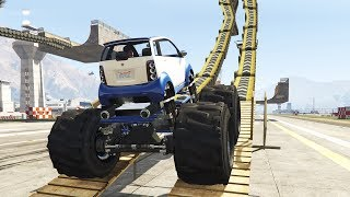 PANTO MONSTER TRUCK & MORE (GTA 5 Mods)(In this GTA 5 Mod video I look at 3 GTA 5 Mods adding different custom monster trucks into the game. These Cars include the Panto, Romero, Speedo Van ..., 2015-08-18T16:59:29.000Z)
