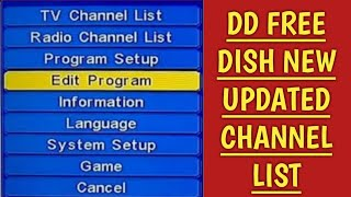 dd free dish new channel update 2018, in hindi