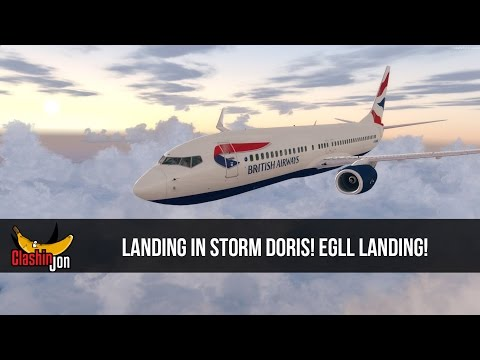 [P3D] LANDING IN STORM DORIS! | Part 2 | EGCC - EGLL | PMDG 737-800