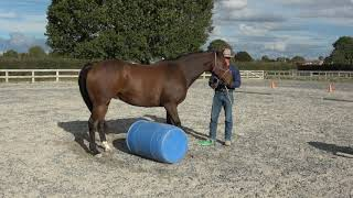 Starting sideways over a barrel