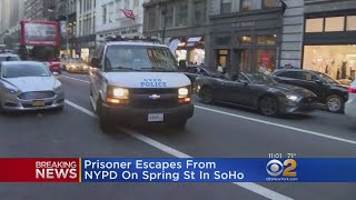 Man Escapes Police In SoHo