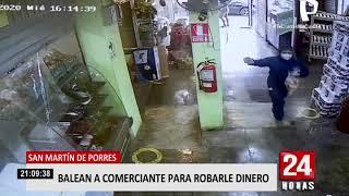 SMP: peligrosos delincuentes balean a comerciante que se resistió a robo