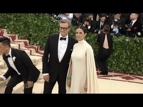Colin Firth and Livia Giuggioli at the 2018 MET Gala