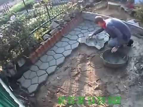 видео: Садовая дорожка (тротуарная плитка) своими руками