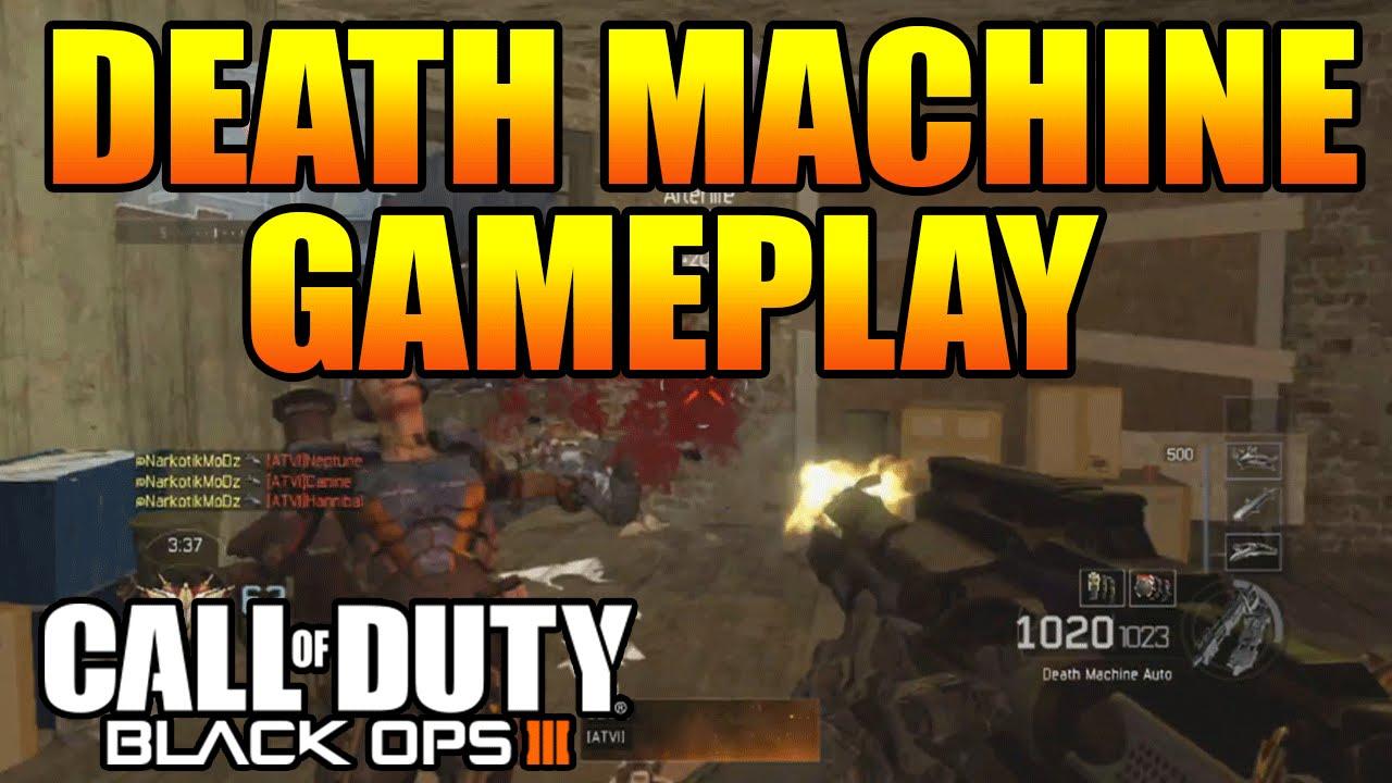 Black Ops 3 Death Machine Gameplay Mod Or Secret Weapon Cod Bo3