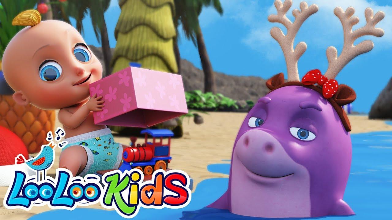 🎅Santa Shark 🦈- Christmas BEST SONGS for Kids | LooLoo KIDS