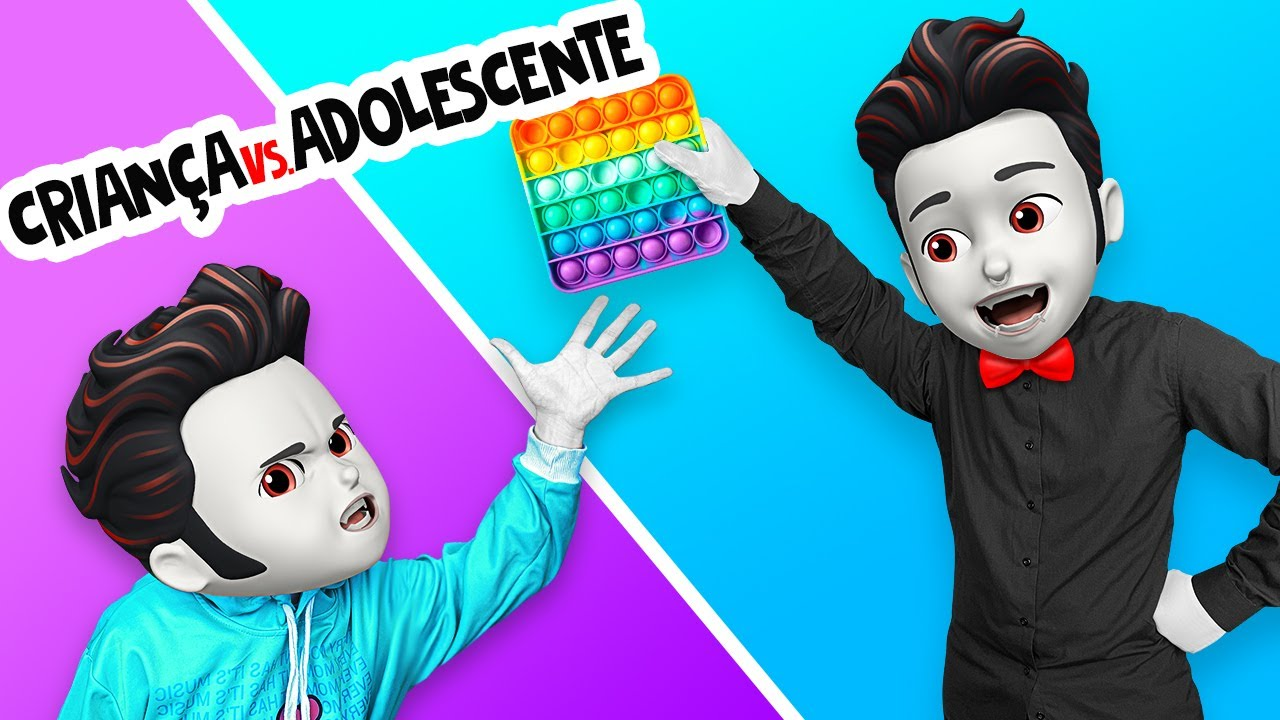 VOCÊ CRIANÇA VS. ADOLESCENTE    Situações Estranhas na Escola dos Monstros, por La La Lândia Emoji