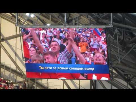 Караоке перед матчем Россия - Англия... Катюша! Евро 2016