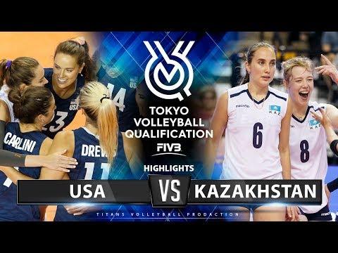 usa-vs-kazakhstan-|-highlights-|-women's-volleyball-olympic-qualifying-tournament-2019