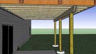 14'x20' Deck With Corner Arbor Sketchup Animation