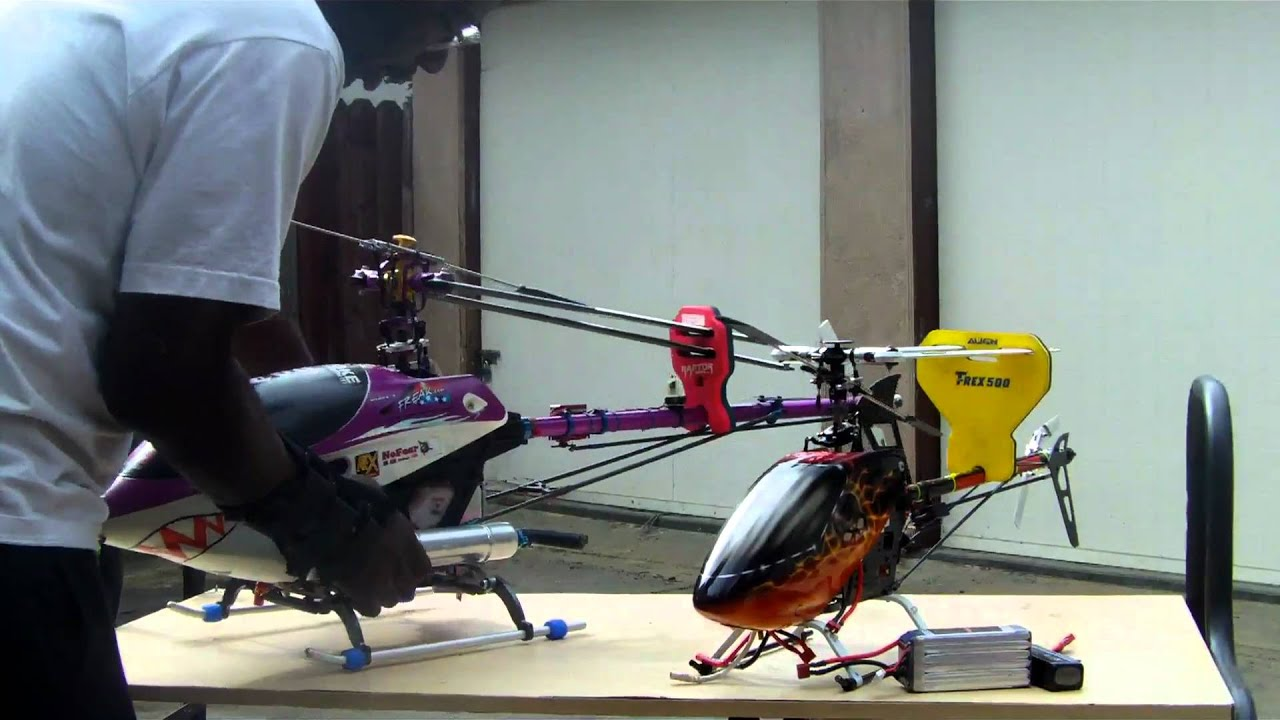 Rc Nitro Helicopteter Vs Electric Wc Youtube