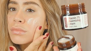 BY WISHTREND VITAMIN 75 MAXIMIZING CREAM REVIEW | on sensitive dry acne prone skin